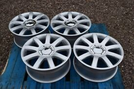 "17"" Hyper Silver Alloy Wheels 4x100/108 4 Stud Early VW Golf Audi 80"