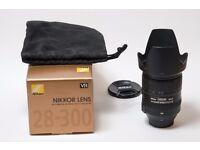 Nikon Nikkor AF-S 28-300mm f/3.5-5.6 G VR Lens, Pristine