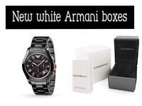 BRAND NEW GENUINE MENS EMPORIO ARMANI AR1410 CERAMIC BLACK & GOLD WATCH WITH BOX
