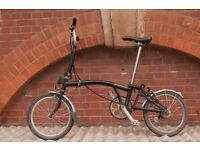 Brompton Folding Bike sale M3L 16 - £750 less than 1 yr old. Perfect condition, Brixton