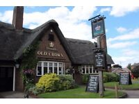 Part Time Pot Wash, Waiting and Bar Staff Required at The Old Crown, Girton