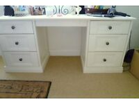 MFI Ivory Lovely Quality Dressing Table 6 Drawers Great Condition