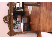 1800's Victorian Mirror 115cm x 117cm