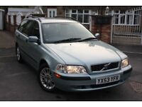 EXCELLENT ESTATE!! 2003 VOLVO V40 1.8 S 5dr, LONG MOT, EXCELLENT SERVICE HISTORY, 2 REMOTE KEYS