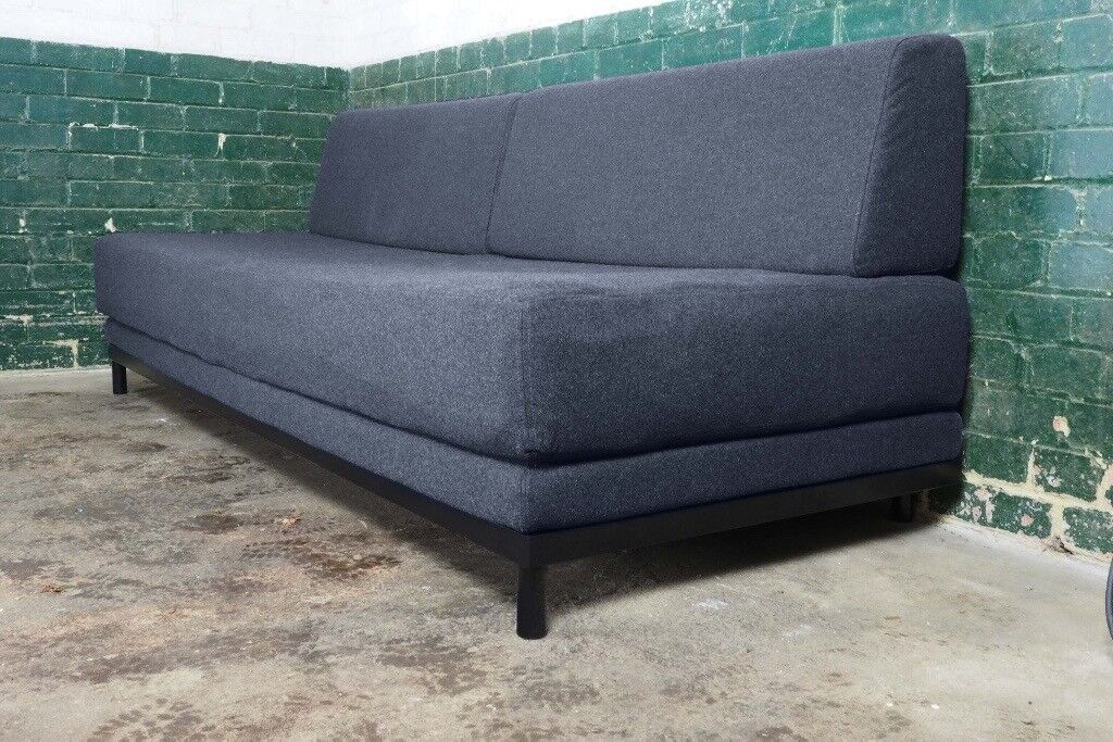 Outstanding Muji Sofa Bed With Black Frame Charcoal Grey Felt Covers Double Sized Bed In Vgc In Tonbridge Kent Gumtree Bralicious Painted Fabric Chair Ideas Braliciousco