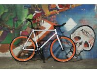 Christmas sale!!! Steel Frame Single speed road bike track bike fixed gear racing fixie bicycle i