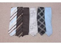 6 ties, 3 from next and 3 from burtons.