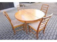 Retro Gplan Circular Teak Dining Table & 4 McIntosh Chairs FREE DELIVERY CENTRAL EDINBURGH