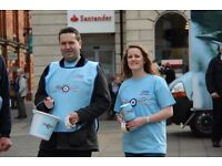 Fundraisers required for the Nottingham Fundraising Group for the Royal Air Forces Association