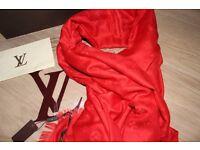Luxury Louis Vuitton red Scarf /Shawl
