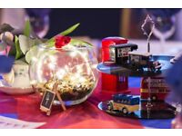 Vintage British Theme Wedding / Event decorations for up to 10 tables