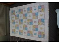 Teddy Bear cot/small be patchwork quilt