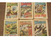 41 WARLORD COMICS BRITISH WEEKLY COMICS CAPTAIN COWARD CASSIDY ETC SEE PHOTOS