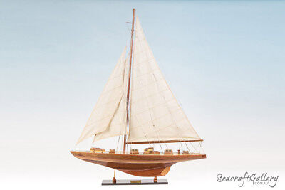 WOODEN MODEL SAILING YACHT BOAT ENDEAVOUR 80CM HANDMADE REPLICA GREAT GIFT DECOR