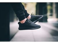 NEW & BOXED – ADIDAS YEEZY SUPLY 350 BOOST PIRATE BLACK RUNNING TRAINERS - SIZE UK 8 9 9.5 and 10.5