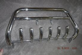 Nissan Navara / Pathfinder stainless steel front tubular bull bar bumper.