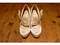 IVORY SATIN Wedding or Party Heels