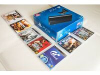 Playstation 3 (PS3) bundle - Boxed Super Slim charcoal black 500GB & 7 games : EXCELLENT CONDITION