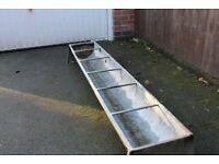 Garden planter - galvanised pig trough