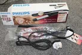 Philips HP8345 Care Straight & Curl Straightener Curved Ceramic Plates