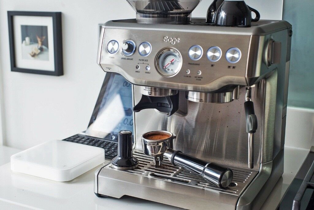 sage barista express coffee machine in cambridge. Black Bedroom Furniture Sets. Home Design Ideas