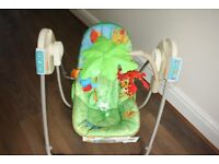 Fisher Price- Rainforest Baby Swing - Excellent condition
