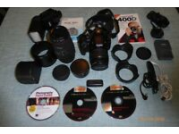 CANON EOS 400D DIGITAL CAMERA COMPLETE OUTFIT AND CARRY BAG