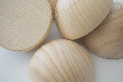 Holz Halbkugeln, Buche 50mm Ø 5 Stück, unbehandelt, Bastel- und Gestaltungsholz