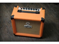 Orange Crush 10 Guitar Amplifier with overdrive - Immaculate + power lead