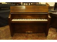 Art Deco upright walnut piano by Bentley - Tuned & delivery available