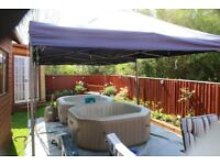 HOT TUB HIRE, 2x INTEX 6-8 PERSON HOT TUBS AND HEAVY DUTY GAZEBOS