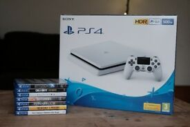 PS4 White Slim 500GB + 7 Top Games
