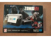 Nintendo Wii U ZombiU Premium Pack Limited Edition + Games Bundle