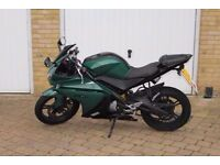 Yamaha R125-Custom British Racing Green-All paperwork and registration