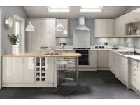 7 Piece Kitchen Units - Warm Grey Gloss - BRAND NEW
