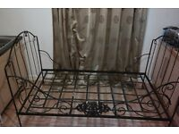 Antique Wrought Iron French Daybed Frame
