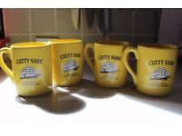 Four Rare Cutty Sark Whisky Mugs