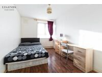 DOUBLE ROOM IN WHITECHAPEL* MODERN APARTMENTS/BOOK NOW ZONE 2