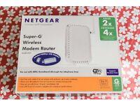 Netgear DG834GT Modem Super G Wireless Router (DG834G) & USB dongle