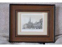 Framed antique/vintage Palais de la Justice print