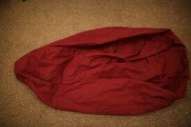 Turkish Bean Bag Chair - Maroon
