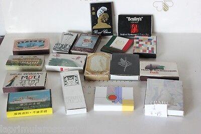 17 SCATOLE DI FIAMMIFERI  ANNI '70  ALBERGHI -  VINTAGE MATCHES BOXES SOUVENIR