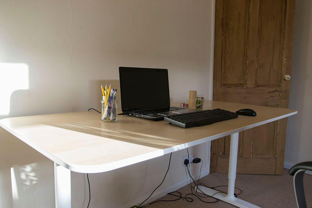 Ikea Bekant Desk Birch Veneer White In Beverley East