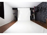 Warehouse photo studio for hire in Colchester, Essex. Only £25 p/h (min 2hrs)