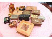 Job Lot of Vintage Wooden Boxes etc