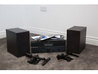 Cambridge CD player and amp with Mordaunt Short speaker and wall brackets.