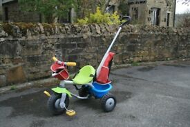 Toddlers First Tricycle. Ideal first bike, you have full control!