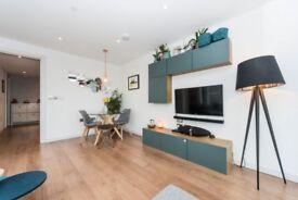 IKEA style grey wall mounted cupboards