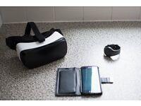 Samsung s6 edge, samsung s2 gear smartwatch and samsung VR headset