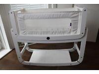 Snuzpod 2 bedside crib - white